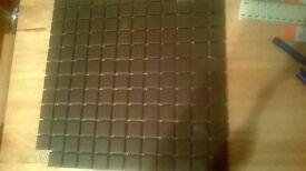 MATT BLACK MOSAIC TILE SHEETS X 10
