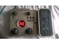Zoom multi effects FX pedal for guitar