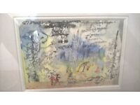 watercolour by Mary Wykeham, signed