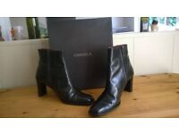 Black Carvella `Sally` heeled ankle boots