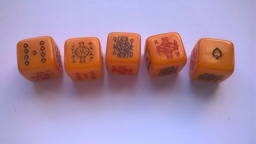 vintage ( circa 1950s ) poker dice ' two sets
