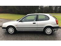 CHEAP TOYOTA COROLLA SE 1.3L (2001) 3 door year mot with low miles