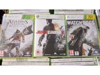 XBOX360 GAMES FOR SALE / £8 EACH OR ALL 3 FOR £20 POUND