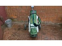 POWERCADDY BAG AND 3 TROLLY'S
