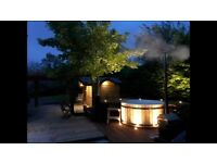 Wood burning Wooden Hot Tubs and Saunas from £2000