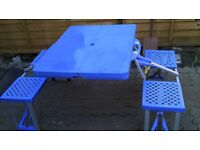 Camping ,Folding Picnic Table &Chairs £25