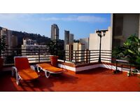BENIDORM/SPAIN/ PENTHOUSE WITH LARGE PRIVATE TERRACE FOR RENT