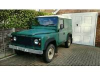 Lovely land rover 90 green 1986 ongoing project drives runs well