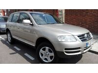 VW TOUAREG SE V6 AUTO PETROL, 1 OWNER, ELECTRIC SUN ROOF, SAT NAV, LEATHER HEATED ELECTRIC SEATS