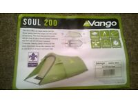 Brand new 2 persons Vango soul 200 tent for sale