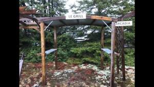 Abris pour BBQ en bois traité