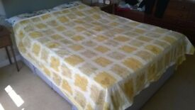 Double size quilt with cover