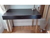 IKEA computer desk with hinged worktop - ideal for students - excellent condition - dark wood effect