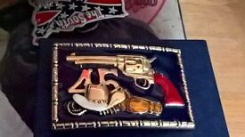 solid brass western style belt buckle