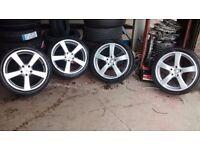 18inc alloy wheels for audi a4 or vw wheels