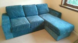 NABRU 3 seat sofa with chaise + sofa bed