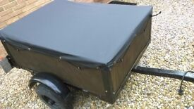 compact car trailer 3' x 4', ideal camping, new cover, electrics