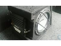 12 inch alpine sub alpine mono block amp subwoofer amp ported box