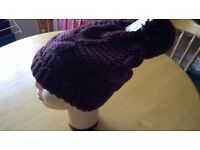 ladies woolley pom pom hat new still with labels