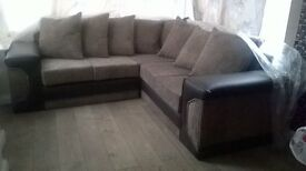 Brand New Corner Sofa ( Leather & Material ) Still In Wrappers Only Open To Take Pic Can Deliver