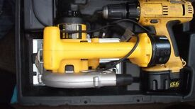 dewalt cordless drill and circular saw kit 14.4 volt