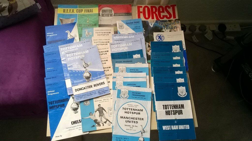 Tottenham Hotspur Football Programmes. Most in excellent condition.
