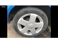 Ford. FIESTA. MK 6. Alloy wheel. Inc tyre.