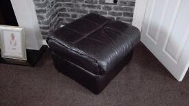 Italian leather footstool