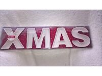 Christmas Chip and Dip Dishes in XMAS letters