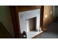 Wood and Tile Complete Fire surround