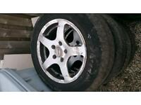 5 stud 15��� alloys with tyres ��55
