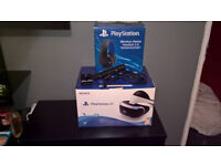 playstation vr with headset and cam