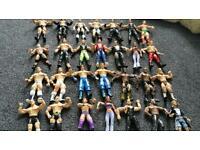 WWE wrestling figures x 28