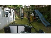 Mobile Disco DJ Equipment - for sale or swap motorcycle