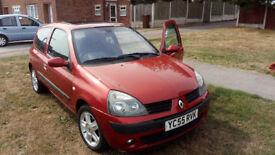 Renault Clio Dynamique 1.4 16v, sunroof, alloys, central locking, tested, petrol, log book :-)