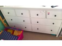 Ikea hemnes chest of 8 drawers 4/4.very good condition .