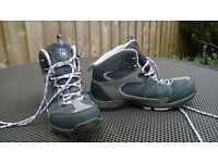 Kids Girls Hi Gear lightweight walking boots UK size 4 VGC