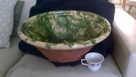 Very Large Pottery Bowl