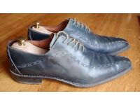 Blue Italian leather shoes - size 12 (46)