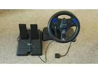 Playstation 2 racing wheel for driving games