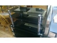 black glass tv stands 3 avalible