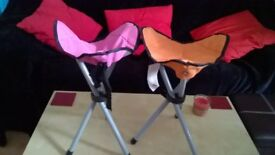 2 x foldable camping stools. new condition