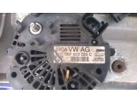 VW Caddy 2009 Alternator-IN GOOD CLEAN WORKING CONDITION!