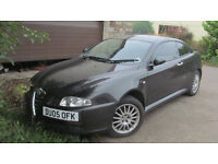 SMART BLACK 2005 ALFA GT IN GOOD CONDITION WITH MOT LEATHER TRIM