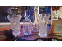 Crystal (authentic) Decanters and Vases