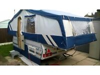 2001 Pennine Sovereign 6 Berth Folding Camper.With Full Awning Bed Skirt.And Electric Flush Toilet