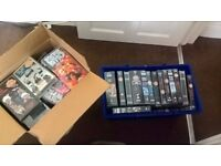 2 Boxes of Doctor Who videos + video player to play them on