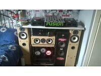 professional American audio cd decks an 4channel beringer mixer