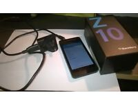 Blackberry z10. black. excellent condition. no scratches. unlocked. boxed and charger
