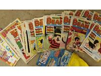 Over 80 old dandy and beano comics